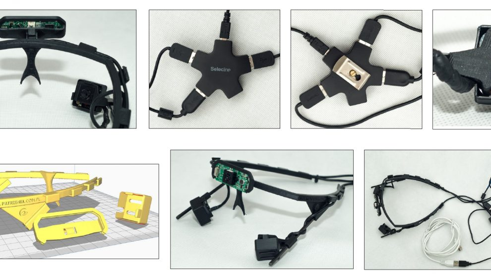 Eye-tracker elements ready for workshops